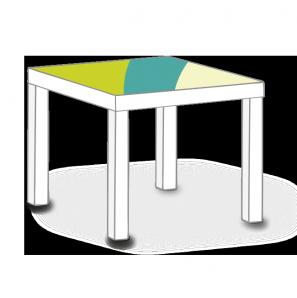 Möbeaufkleber für IKEA LACK Tisch 55 x 55 cm