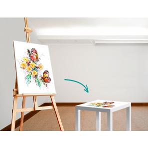Möbeaufkleber für IKEA LACK Tisch 55 x 55 cm, Beispiel